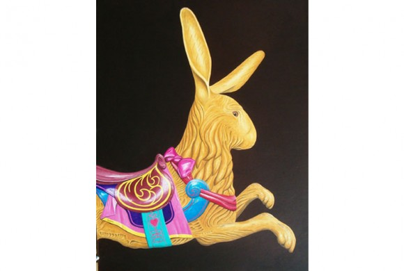 A Dentzel Carousel Rabbit