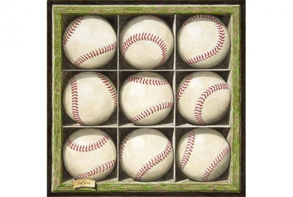 Nine Baseballs