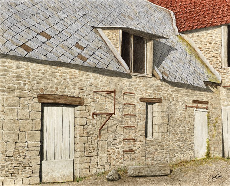 A Stone Barn In Normandy